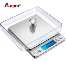 Digital-Weight-Scale Postal Anpro Food-Measuring LED Kitchen Electronic Portable 1/2/3kg