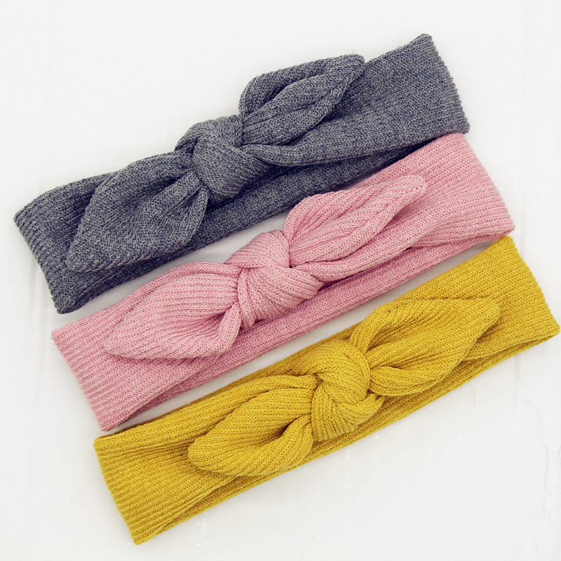 New Soft Cotton Knit Baby Heaband Cute Rabbit Ear Elastic Haarband Baby Girl Headbands Baby Hair Accessories Newborn Hair Band