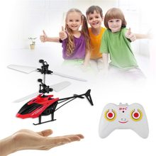 Infrarood Inductie RC Helicopter Vliegtuigen Vliegende Speelgoed met Afstandsbediening Mini Dron LED Flash Light Float Speelgoed Voor Kinderen Jongens 14 +(China)