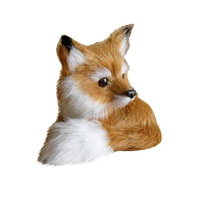 Stuffed Plush Fox Model Animals Toys Children Kids Baby Furry Lovely Little Foxes Model Toy Mini Plush Fox Toys For Boys Girls