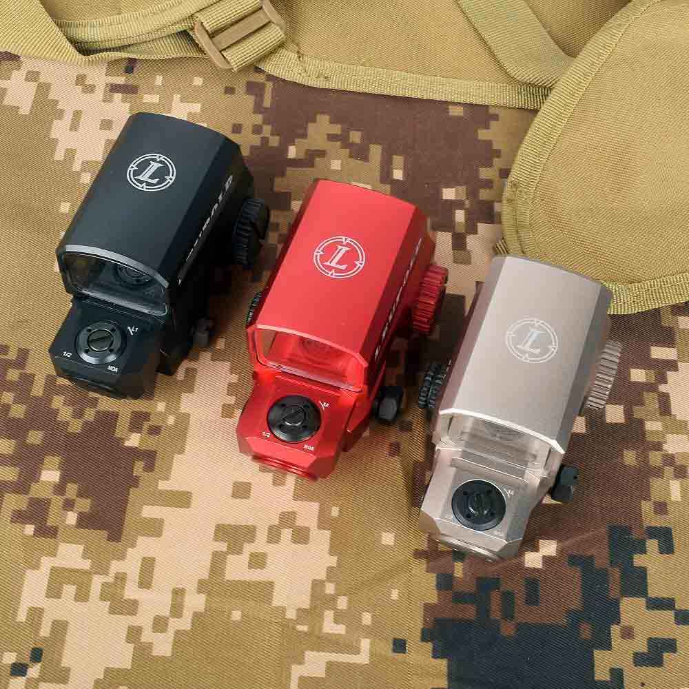 Lco Red Dot Sight Hologram Pandangan Taktis Riflescope Cocok 20 Mm Rail Mount Berburu Lingkup Reflex Sight