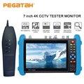 7 zoll H.265 4K IP tester SDI IP TVI CVI AHD CCTV Kamera tester unterstützung TDR Optische power HDMI sicherheit kamera tester System-in CCTV Monitor & Displays aus Sicherheit und Schutz bei