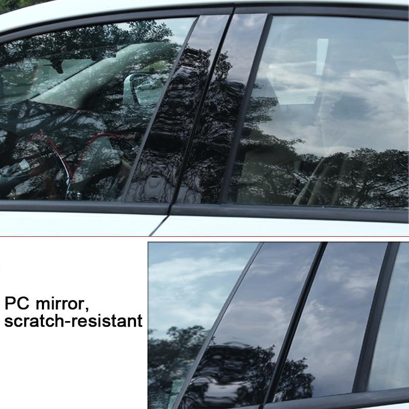 פלאזמה 6 / 8pcs Pillar חלון דלת המכונית הודעות פסנתר Trim כיסוי קיט Fit עבור BMW 3 Series 13-18 / 5 סדרה 11-17,18 / X3 11-18 / X5 09-18 (3)