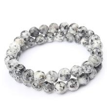 Lingxiang 6/8/10mm granito cânhamo natural jóias pulseira solta contas redondas masculino e feminino acessórios e amuletos