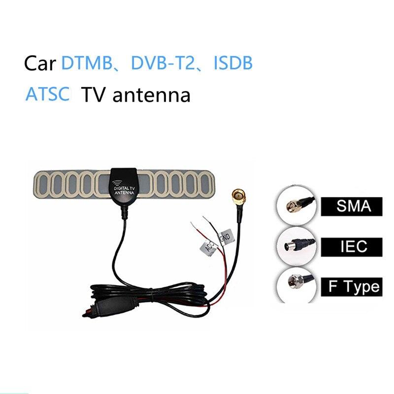 DTMB DVB-T ATSC ISDB Car Aerials Internal Glass Car Radio Antenna Digital TV Car film Antenna For Car Parts Replacement Accessories 7 -