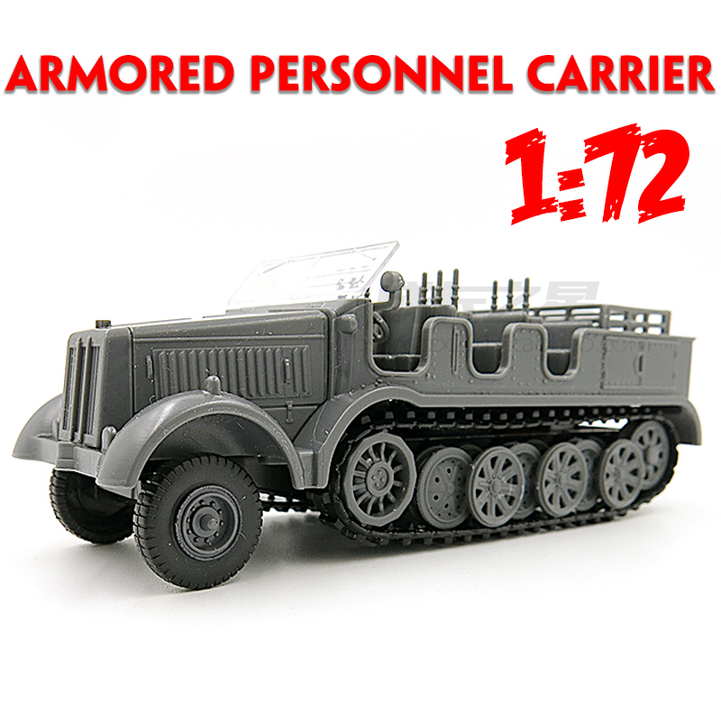 1:72 Assembled Model Car 4D Wheeled Armored Vehicle Rubber-free Assembly Model Military Toy Car Gifts For Kids Boy