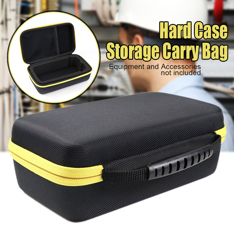 1pc Black Waterproof Shockproof EVA Hard Case Storage Carry Bag Organizer For F117C/F17B Digital Multimeter 230*140*75mm