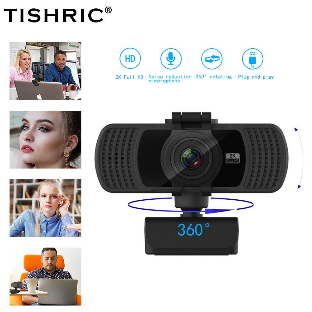 Tishric PC-C6 Web Cam 2K HD Webcam 1080P 4 Million Pixels Web Camera For Computer Peripherals/with microphone Webcam Autofocus 1