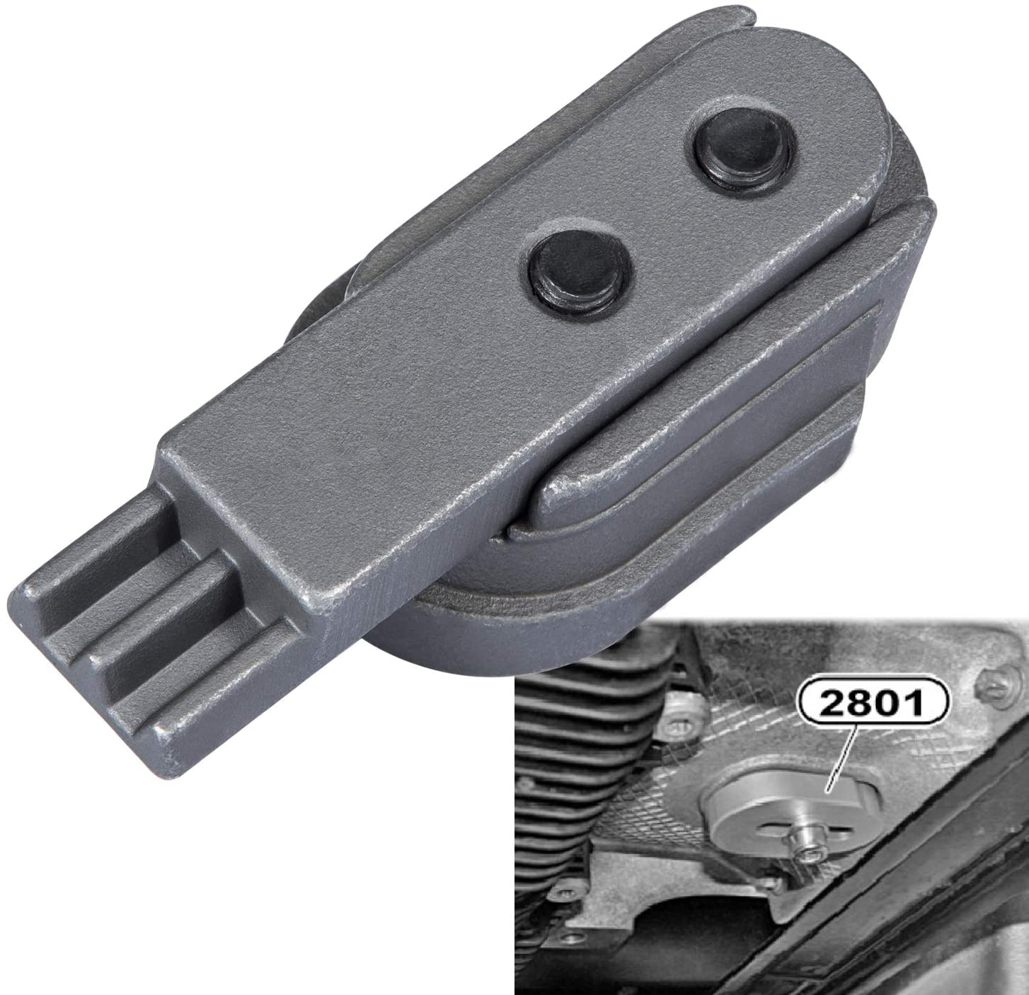 Chuang Qian 2801 Flywheel Holder for BMW N20 N26 Engines Flex Plate Lock Tool 83302222742 Great for Replacing The Timing Chain
