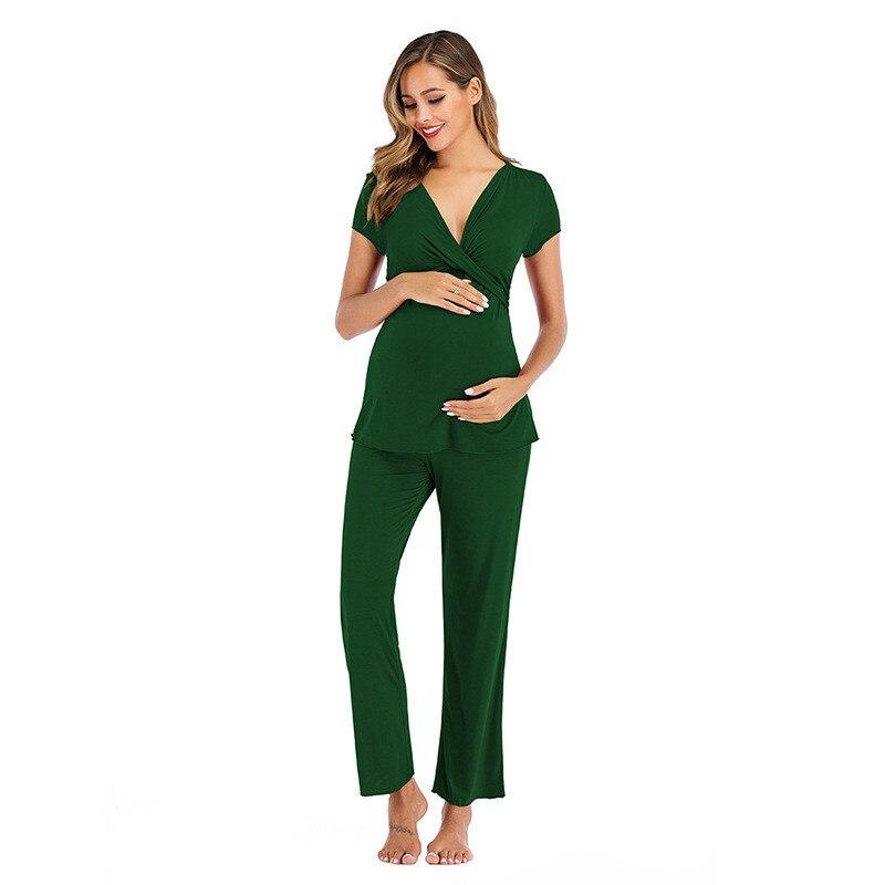 maternidade pijamas amamentacao pijamas enfermagem 04
