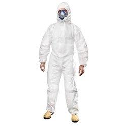 Ropa con sellado aislante térmico, ropa protectora blanca, bata desechable antiestática, ropa de trabajo química antipolvo