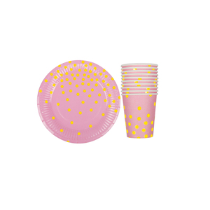 Image 4 - 20pcs/set Colorful Striped Paper Cups&Plates Wedding Birthday Decoration Baby Shower Festival For Kids Tableware Party Supplies
