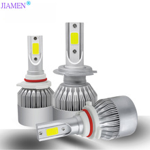 JIAMEN 2Pcs  Car Lights Bulbs LED H4 H7 9003 HB2 H11 H1 H3 H8 H9 880 9005 9006 H13 9004 9007 Auto Headlights 12V Led Light