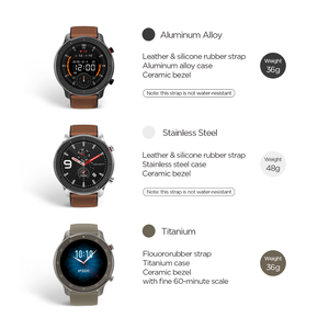 Image 5 - Global Version Amazfit GTR 47mm Smart Watch 5ATM Waterproof Smartwatch 24 Days Battery Music Control Leather Silicon Strap