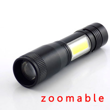 2 way Q5 COB Flashlight LED Portable Work Light Powerful Min