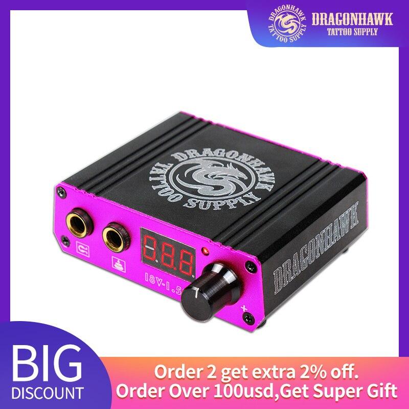 New Design Lcd Mini Tattoo Power Box Supply Dragonhawk For Tattoo Machine Tattoo Power Supply