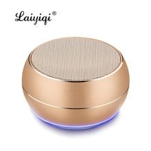 Laiyiqi Metal texture Bluetooth speaker radio FM reveil subwoofer car enceinte bluetooth portable puissant caixa de som portatil