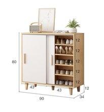 Armário de sapato porta do agregado familiar armário de armazenamento simples multifuncional porta deslizante sapato armário