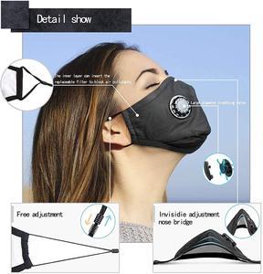 Image 2 - Хлопковая маска для лица PM2.5 фильтр с активированным углем для дыхательной вставки защитный моющийся чехол для рта для наружной работы