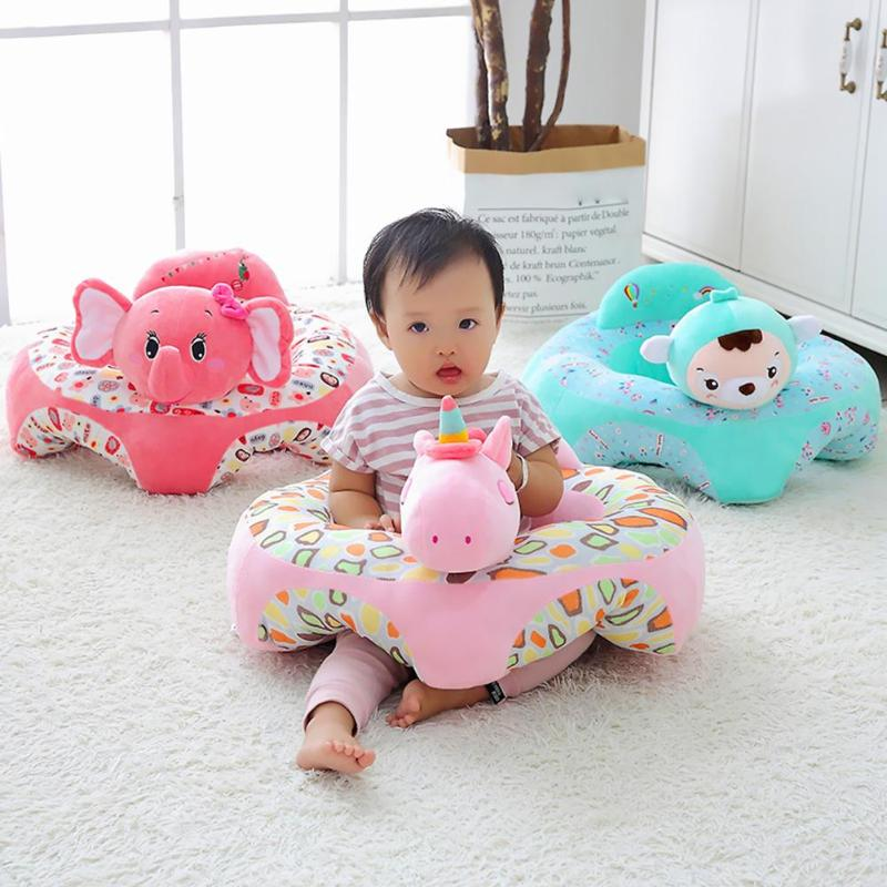 Baby Sofa Support Seat Cover Baby Safety Plush Chair Learning To Sit Comfortable Toddler Nest Puff Washable Without Cotton
