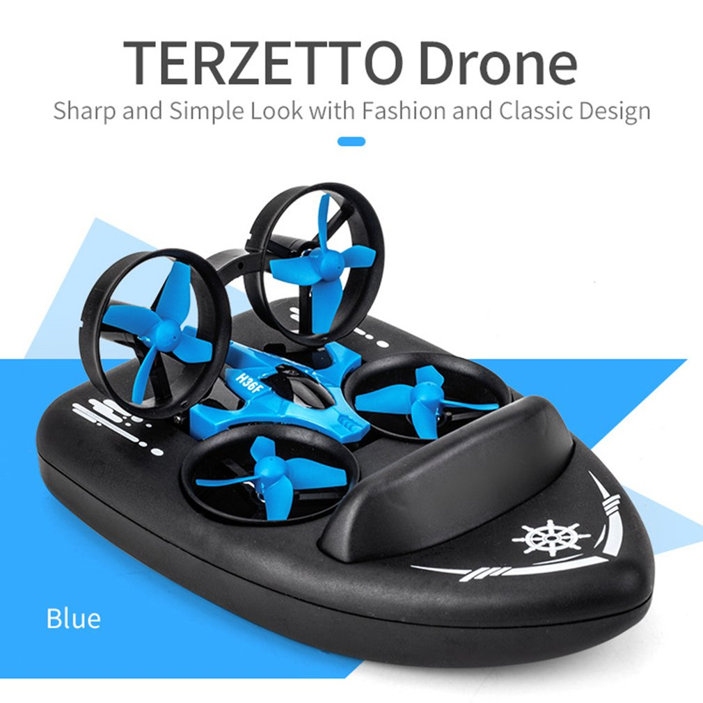 Upgraded H36 JJRC H36F Terzetto 1/20 2.4G 3 In 1 RC Vehicle Flying <font><b>Drone</b></font> Land Driving Boat Quadcopter Model Toys RTR image