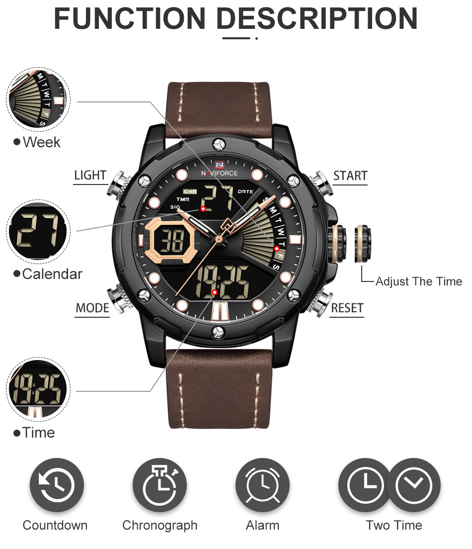 H6f597850fef04d5ca68ed771f90e6ce6u NAVIFORCE Men Watch Top Luxury Brand Fashion Sports Wristwatch