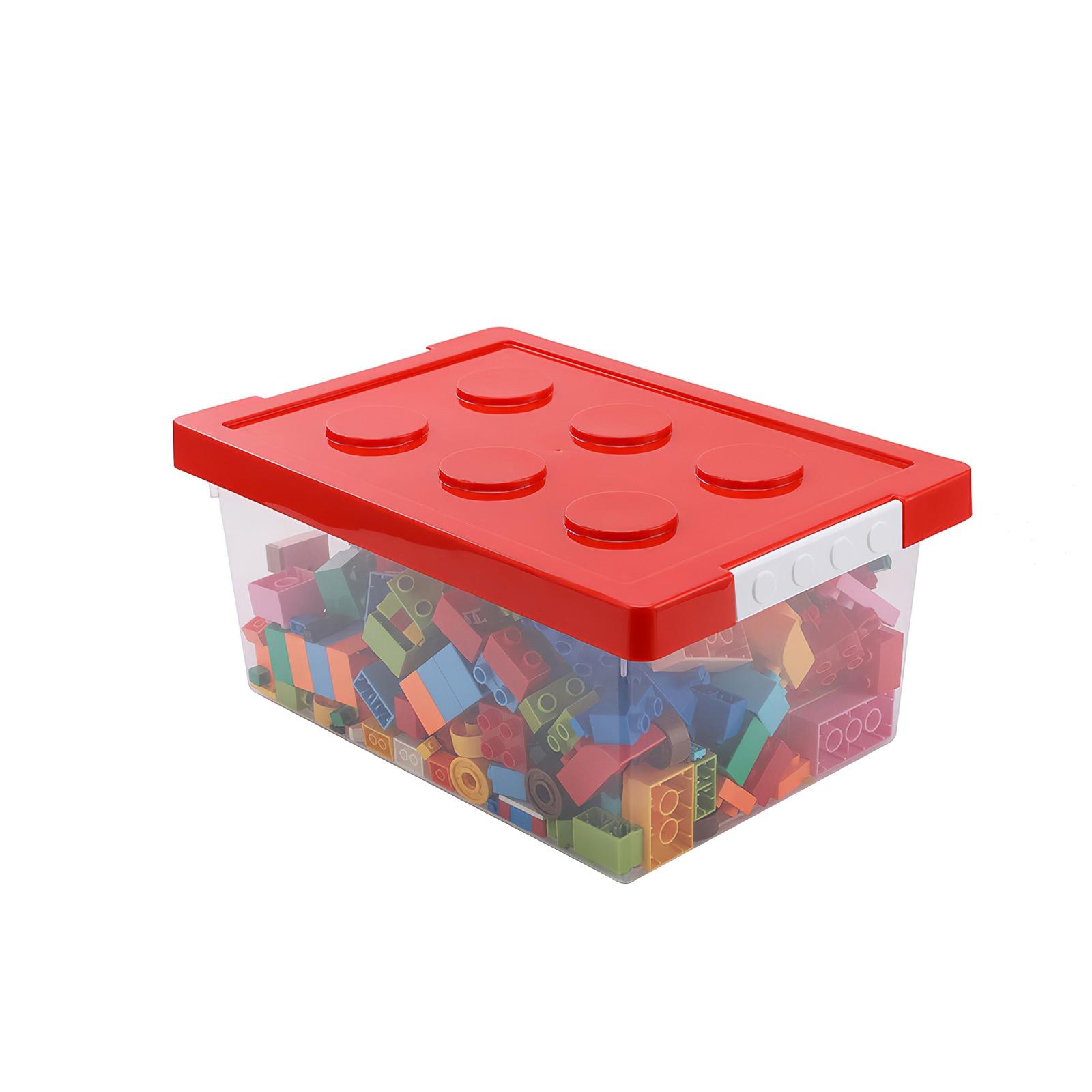 Kids Building Block Storage Box Colorful Stackable Building Block Storage Box Stacking Toys For Children Plastic Container Case