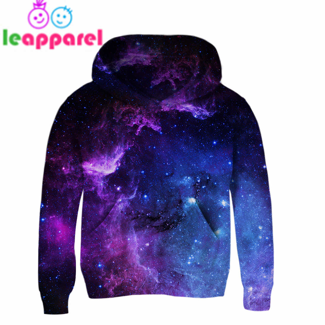 3T~13T Girls Hoodies Boys Hoodies 2019 Space Galaxy 3D Hooded Coat Outwear Jackets Baby Girls Boys Clothes 3-14Y