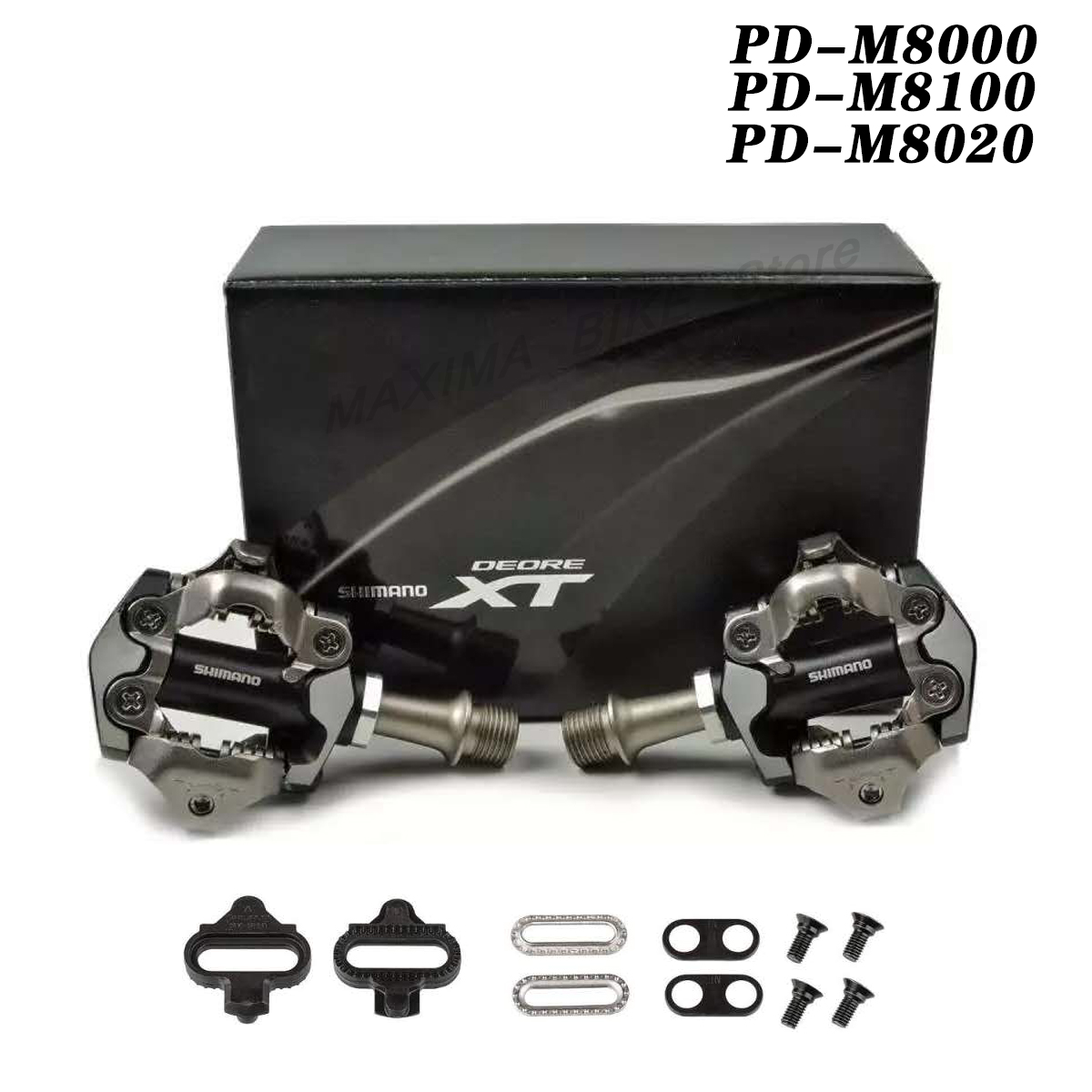 New DEORE XT PD-M8000 M8100 M8020 Self-Locking SPD Pedals MTB Components Using for Bicycle Racing Mountain Bike Parts