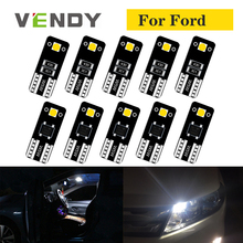 10pcs W5W T10 LED Lights 2825 168 Bulb Car Auto Lamp For Ford focus 2 mondeo mk4 mk3 fusion fiesta c max explorer kuga mustang leather only 2 front car seat covers for ford mondeo focus fiesta edge explorer taurus s max auto accessories car styling