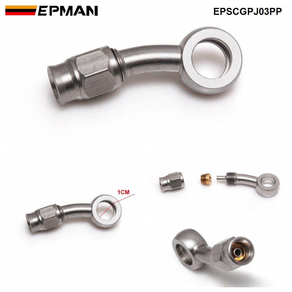 Epman 1pc an3 motor da motocicleta da bicicleta linha mangueira de óleo do freio hidráulico banjo encaixe de aço inoxidável para o carro auto motocicleta epscgpj-5