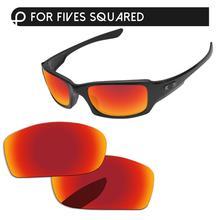 Papaviva огнестойкие красные зеркальные поляризованные Сменные линзы для пятиугольных солнцезащитных очков, оправа UVA& UVB защита