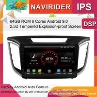 Built in 4G Lte car Intelligent navigation tape recorder 9.0 android car gps radio multimedia player for hyundai IX25 Creta 2017