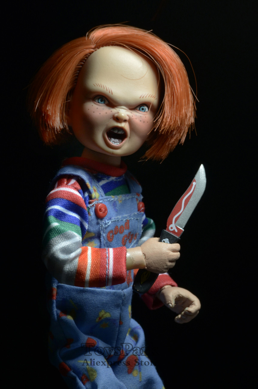 """NECA Chucky CHILDS PLAY 8"""" SCALE Clothed Retro Style Action Figure GOOD GUYS"""