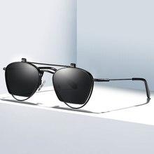 Classic Women Sunglasses Men Polarized Sun Glasses Flip Sunglasses