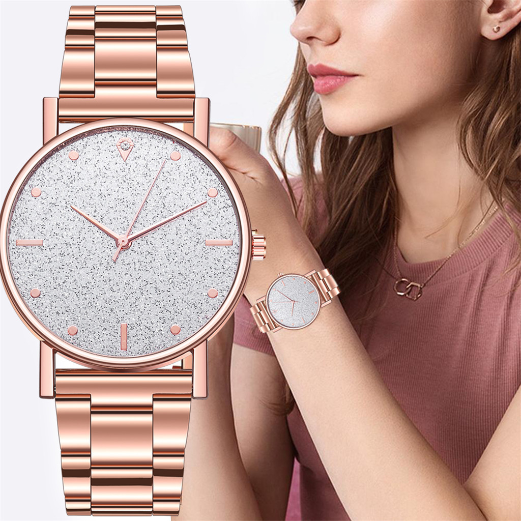 Montre Femme Watch Women Fashion Luxury Quartz Watch Stainless Steel Dial Casual Rose Gold Watch Ladies Clock Simple Dress Gift