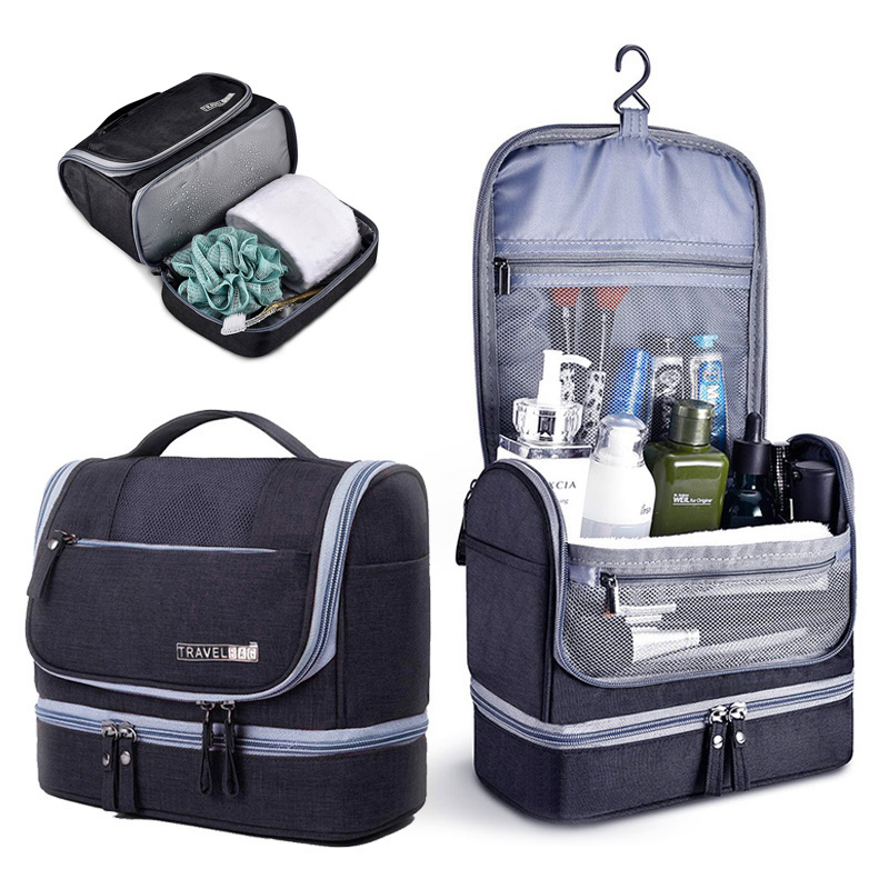 Portable Hanging Travel Toiletry Wash Bag Men Double Layer Cosmetic Organizer Pouch Women Necessaries Make Up Case 426