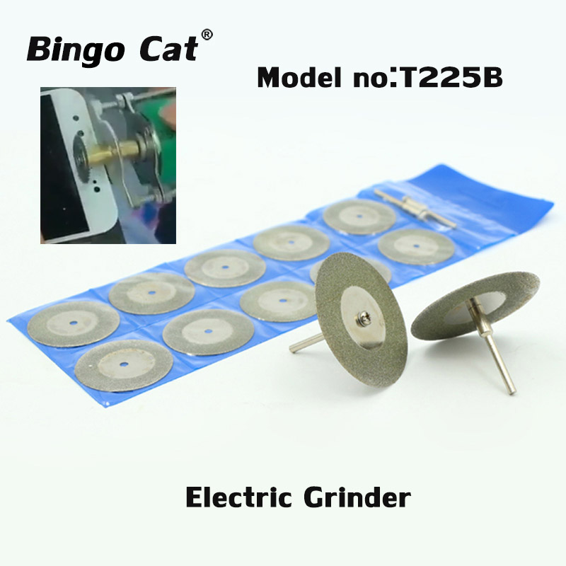 10pc Electric Grinder Grinding Wheel Glass Cutting Piece Diamond Slice Small Blade  For Mobile Phone Glass  Separating