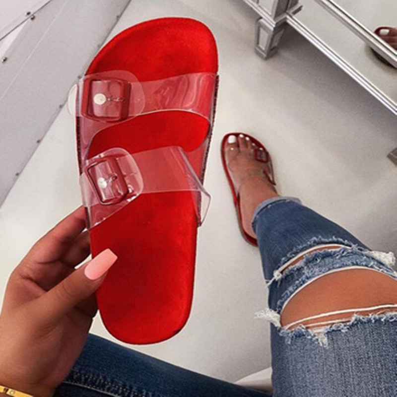 2020 Crystal Outdoor beach sandals Summer Women Slippers Bling ladies open toe Comfort slip woman shoes Candy color Cobra 4