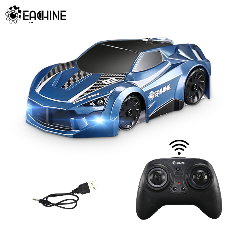 Eachine EC03 RC Car Stunt Car 2.4G Electric Racing Climbing Across Wall Car Anti Ceiling Rotating Toys Auto Gift For Children