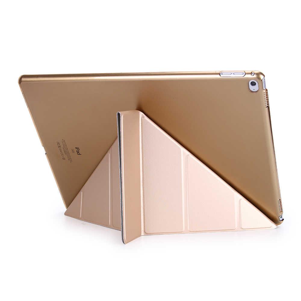 Case untuk iPad Pro 12.9 2018 PU Kulit Penutup Depan Silikon Lembut Smart Case untuk iPad Pro 12.9 2017 2016 2015 A1584 A1652 A1670