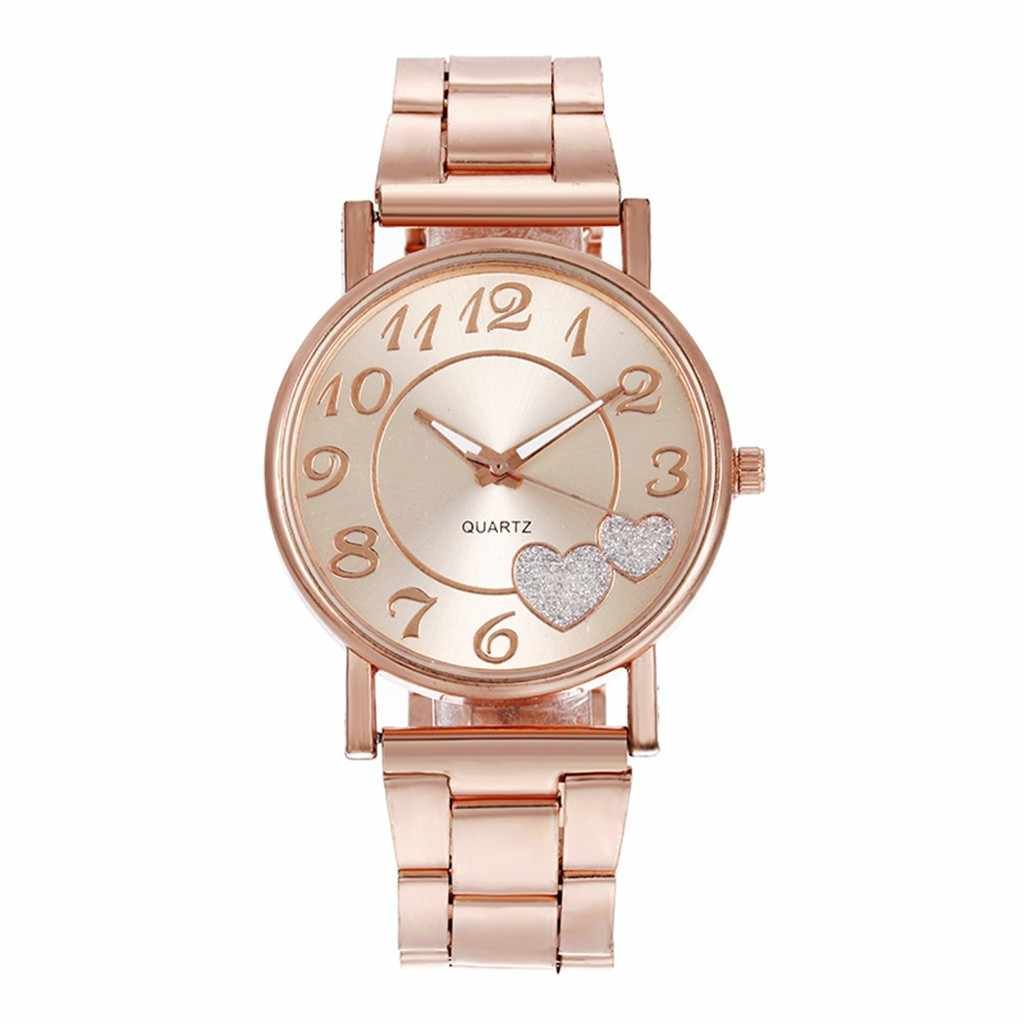 אופנה נשים שעונים יהלומי אהבת לב חיוג קוורץ שעון שעון לאישה подарки на новый год montres femmes relogio mulher # l0