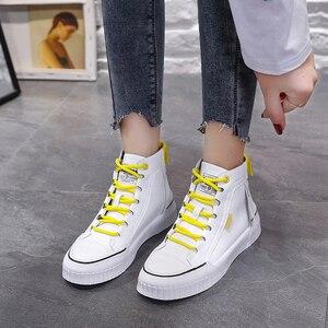 Image 3 - 2019 moda tênis para mulher respirável plataforma tênis feminino sapatos de luxo designers femininos vulcanize martin botas