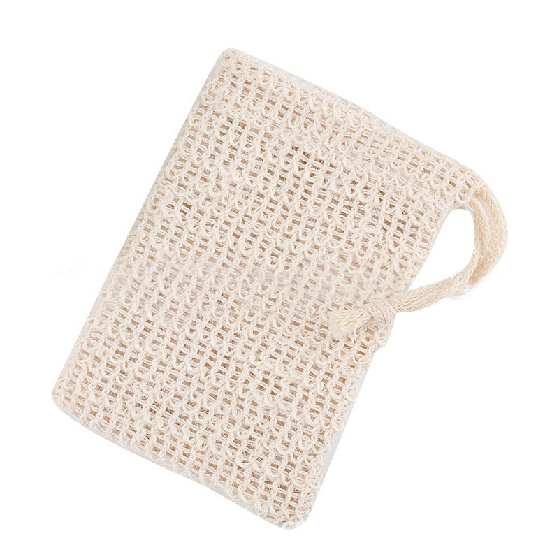 Cotton Linen Drawstring Soap Saver Bag Net Pouch Exfoliating Soap Storage Bag