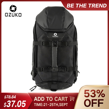OZUKO New Men Travel Backpack Large Capacity 17 inch Laptop Bag Male Multifunction Mountaineering Backpacks Outdoor Sport Bag men multifunction backpack detachable laptop travel bag large capacity casual business backpacks