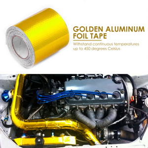 33ftx2in Gold Exhaust Air Intake Heat Insulation Shield Wrap Durable Practical Multi-functional Classic Heat Barrier Tape