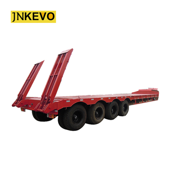 4 osie 100 ton Heavy Duty niskopodłogowa naczepa siodłowa z osiami 16Ton tanie i dobre opinie Przyczepa 11500kg 100000kg 1 7m Steel 16tons axle * 4 pcs 12 00R20 16pcs 5mm diamond plate 2 or 3 5 28ton 13000x3000x1700mm