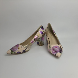 Image 4 - Women Pumps Hot Fashion Purple Flower Pointed Toe Thin High Heels 12CM Heels Pumps Good Quality 36 42 WENZHAN A99 6