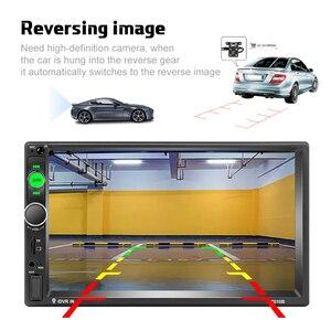 """Image 4 - Podofo voiture accessoires 2 Din 7 """"autoradio MP5 Player 7010b miroir lien écran tactile stéréo bluetooth Support caméra de recul"""