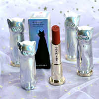 MENOW 6 Colors Cute Cat Shaped Matte Lipstick Long Lasting Lipsticks Cosmetics Velvet Red Waterproof Lipstick Nude Makeup Lip